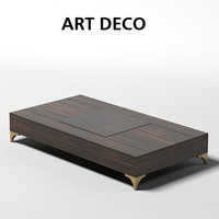 oak design art deco cocktail coffee table