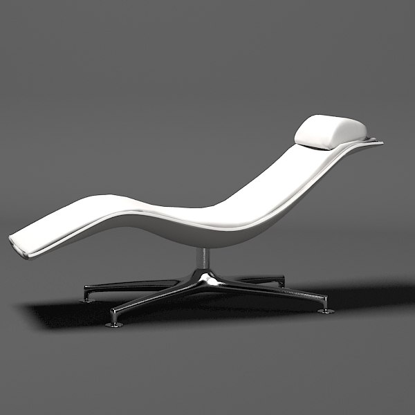3ds max poltrona frau larus for Chaise longue frau