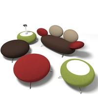 rossidialbizzatte chair pouf 3d model