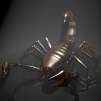 scorpion chrome glass 3d model