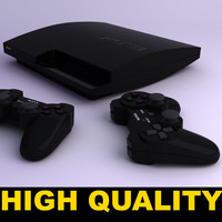 sony ps3 console 3d model