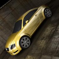 audi tt car 3d model