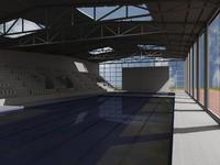 3d olimpic pool model