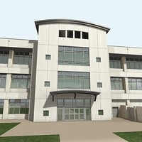3d office building 5 model