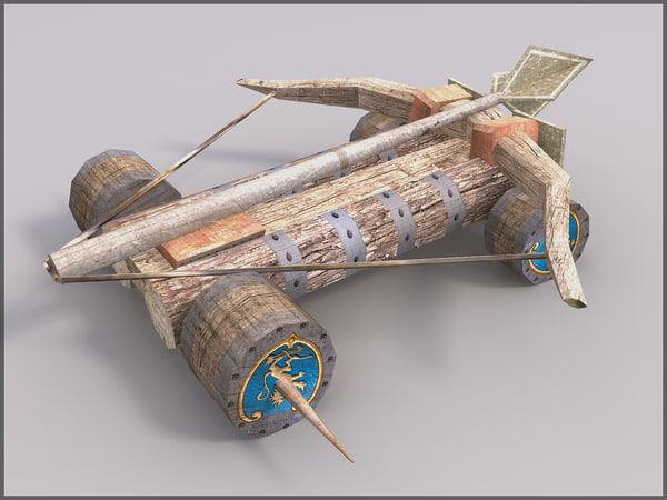 Ballista, Textured, Low Poly