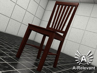 Chair 2 Wood - chair model - 3ds max 2010