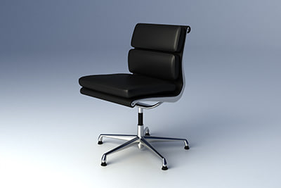 eames softpad group chair 3d model