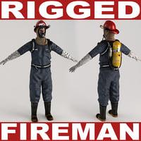 Fireman V2 Rigged
