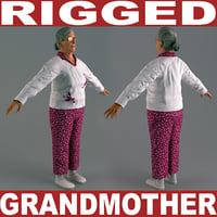 Grandmother V4 Rigged