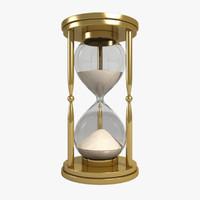 3d hourglass sand