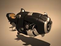 3ds max sci fi hover bike