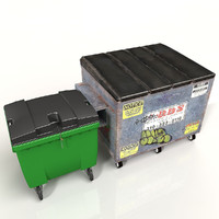 3d industrial bin model