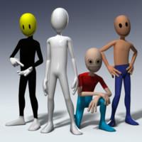 humanoid mascot character 3d model