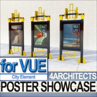 3ds poster display showcase city