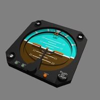 artificial horizon indicator face 3d model