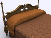 bed coverlet modelled 3ds