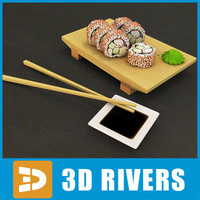 california roll 3d max