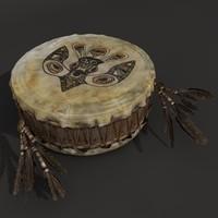 3d indian drum model
