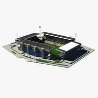 3d model football stadium st