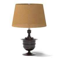 ralph lauren table lamp distressed walnut thophy RL14076bz