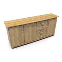 3d model sideboard wood furniture