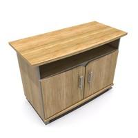 3d model tv cabinet wood furniture