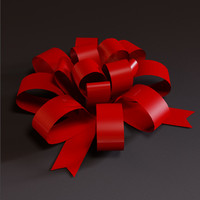 ribbon bow 3d model