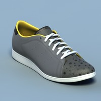 Sports shoes #05 black yellow