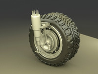 Car wheel engine