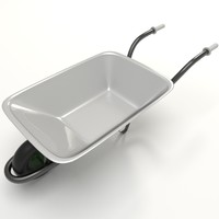 wheelbarrow yafaray 3d model