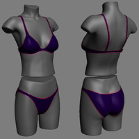 3d female lingerie underwear swimsuit model