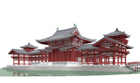3d model buddhist temple