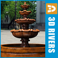 3d model tier fountain
