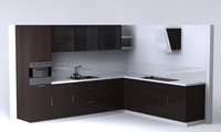 kitchen units corner 3d model