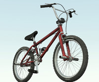 bike bicycle bmx 3d model