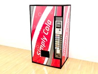 3ds max cola vending machine