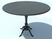 Table Small Round No Mat 1 - 3D Small Wooden Table model - Made in 3ds max2010