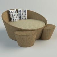 Wicker Lounge Chair: Vray Materials
