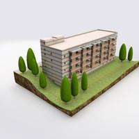 b building 3d max