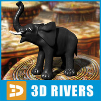 Elephant statuette by 3DRivers