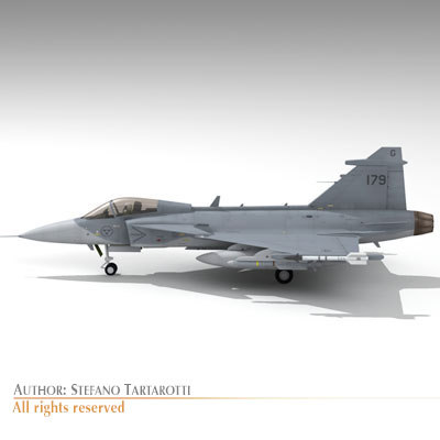 saab jas 39 gripen 3d model - JAS 39 Gripen... by tartino