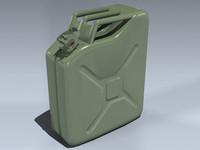 liter military fuel 3d model