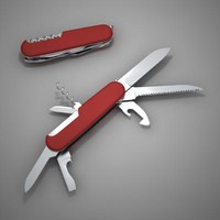 knife penknife pen 3d model