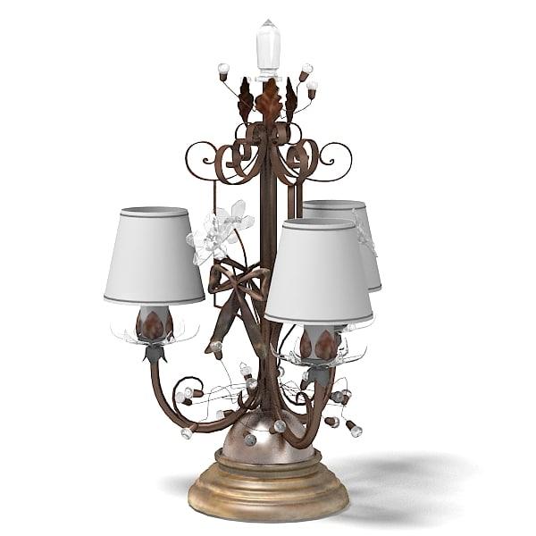 mechini table lamp classic swarowski