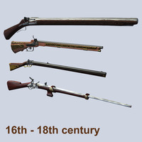 16-18 century weapons pack1
