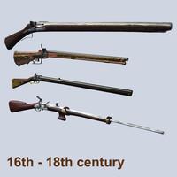 muskete century rifle 3d model