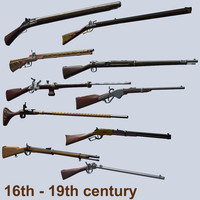 16-19 century weapons pack1