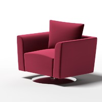swivel armchair club 3d max