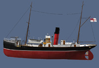 3d model ww1 trawler armed