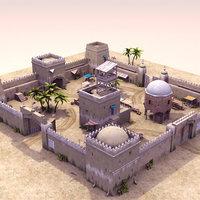 Desert Fort 3DModel